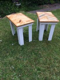 Handmade Pair of shabby chic side/coffee tables made from pallet