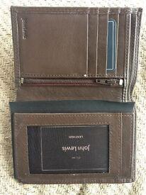 John Lewis brown leather wallet