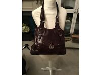 DKNY chocolate brown leather bag