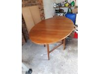 Vintage dining table - folds down