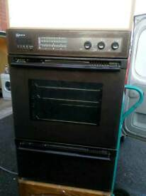Neff double electric oven.