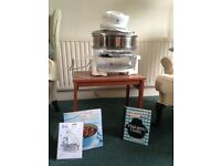 Halogen cooker with recipe books