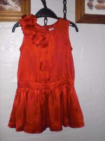JASPER CONRAN RED SLEEVELESS DRESS - JUNIOR - 18 - 24 MONTHS - HARDLY WORN - VGC