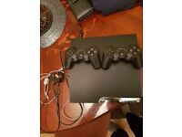 PS3 with 2 controlers wireless in perfect cond