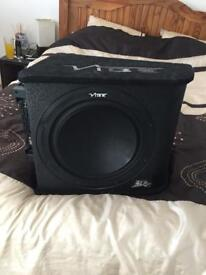 """12"""" Vibe car subwoofer and full wiring kit plus Pioneer Radio"""