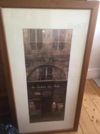 Large Framed Paris Print