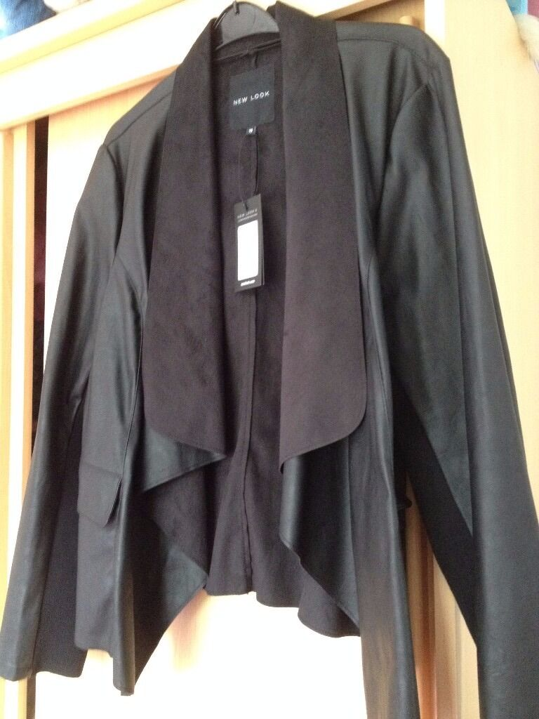 Leather jacket size 18 - Brand New Black Faux Leather Jacket With Suede Collar Size 18 In Anfield Merseyside Gumtree