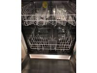 Bosch integrated dishwasher with shaker panel