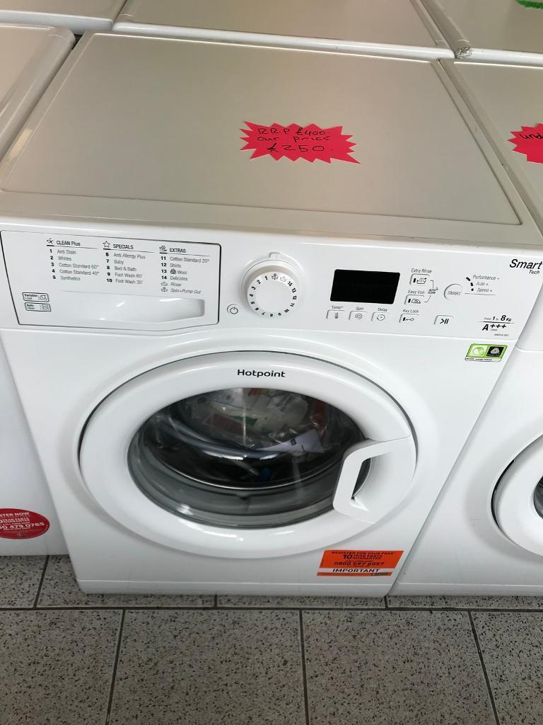 Hotpoint 8kg 1600 Spin washing machine new graded comes with full manufacturing guarantee