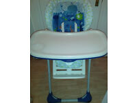 Chicco Polly 2 in 1 High Chair (Fully Adjustable & Folds for Easy Storage)
