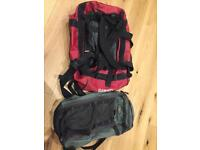Free MEC backpack and 65l waterproof duffel