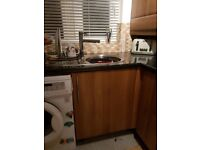 Fitted kitchen incl. Sink taps electric fan oven & gss hob