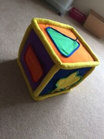 Neurosmith Sensory Play cube - excellent for sensory play includes songs, textures, shape and number