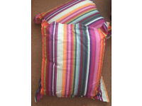 Zara Home Multi coloured striped quilt and pillow case set - scatter cushions to match