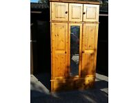 Wadrobe, large pine with drawers, mirror and cupboard