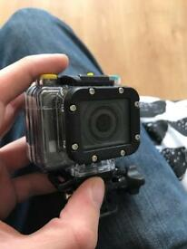 4GEE Action cam with waterproof accessories and control watch