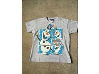 BRAND NEW Genuine Disney Frozen T-Shirts Olaf Christmas Present