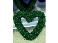 ARTIFICIAL BUXUS RESIN HEART SHAPED WREATH X1
