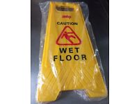 Commercial Caution Wet Floor Safety Sign
