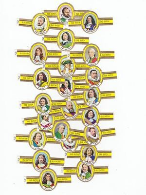 24 cigar bands Old Dutch Famous Captains Heroes Of The Sea Nr25-48 iss 1964