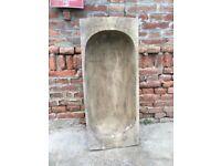 Huge Primitive Dough Bowl Pig Salter Hand Carved Wooden Antique Rustic