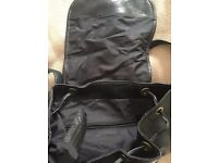 Tula Black leather backpack handbag