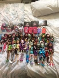 Collection of monster high dolls