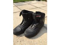 Black IXS full leather Children's/Women's Motorcycle Boots size 6.5