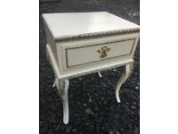 Regency style bedside table with drawer