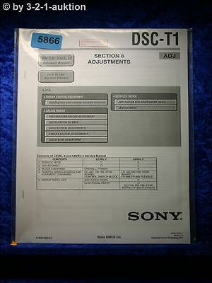 Sony Service Manual DSC T1 ADJ Digital Still Camera (#5866) online kaufen