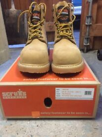 Brand new, unused safety boots