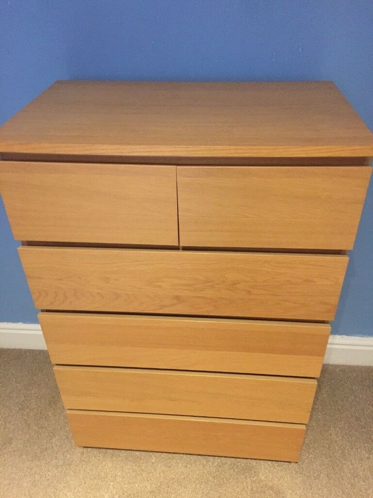 Chest of 6 drawers MALM