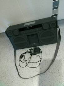 iHOME retro ghetto blaster looking ipod docking system.