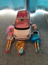 Barbie Fiat 500 Car With 3 Dolls