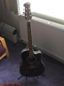 Electro Acoustic Guitar and Stand