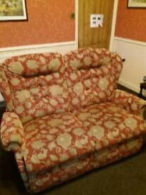 Reclining sofa and 2 chairs