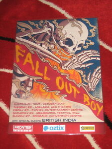 Fall Out Boy -  Australian  Tour 2013 - Laminated Promo Poster