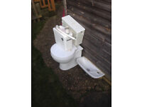 WC Toilet, sink & saniflo