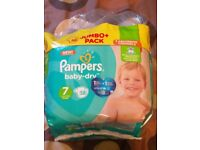 New Genuine Pampers size 7 nappies