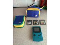Gameboy colour console 3 games & carry case