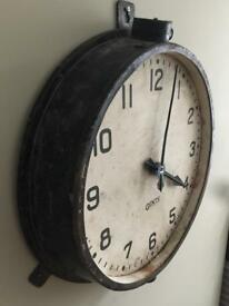 Gents Gent Of Leicester Industrial Railway Factory Station Antique Vintage Clock