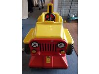 Childs Rocker Arcade Outdoor Sit In Car Ride Car 01-PRICE REDUCED