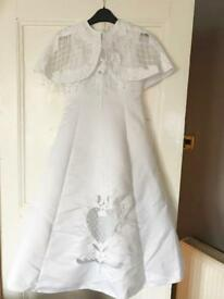 Holly communion Dress, underskirt and vaile