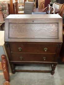 Bureau writing desk oak