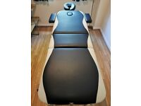 Portable Massage Table, Beauty Therapy Saloon Couch Bed Spa Tattoo Aluminium, 3 Section