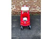 Tikes Cozy Coupe Fire Car & Outdoor Slide