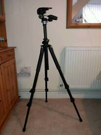 Tripod & head for camera/videocam