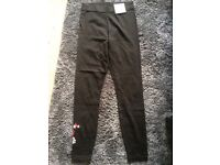 New Look size 8- Black Leggings with flower details *new with tags*