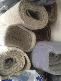 Carpet remnants to clear, rug sizes available