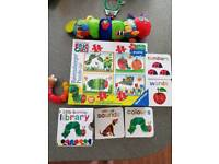 The very hungry caterpillar pram toy, puzzle, learning books